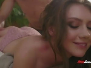 Emotional pretty Russian hottie gives dude head after some good mish