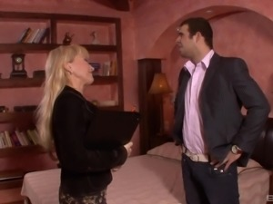 Renata is a mature blonde in need of a man's swollen dong