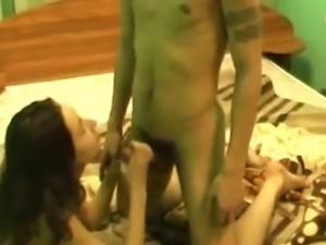 Slim German girl riding hard shaft passionately in amateur fuck video