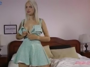 Buxom long legged Russian blondie Arteya is awesome cowgirl who loves doggy