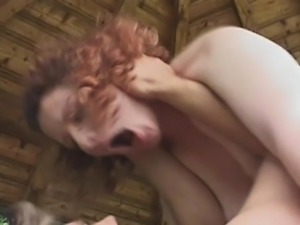 Outdoor hardcore for redhead slut