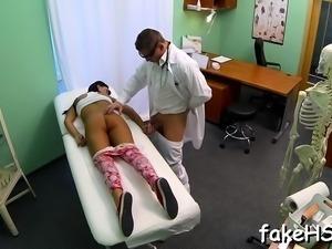 Hot doctor loves when massive schlongs bang her muff