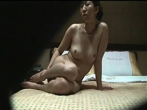 Cheating Asian wife feeds her hunger for cock on hidden cam
