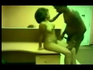 Ebony babe hidden cam masturbates