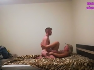 I'll be jacking off to this hot amateur sex video with a horny mature slut