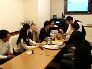 Delightful Japanese girls enjoy a frenzy of raging cocks