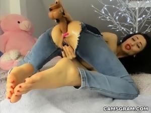 Tasty Ass Dildoing Of Slutty Round Butt Milfy