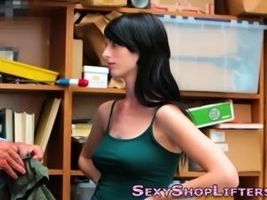 Teen shoplifter fucked