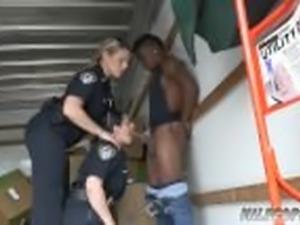 Italian milf Black suspect taken on a tough