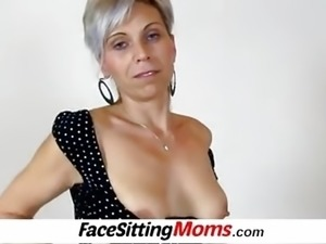 MILF twat licking with amateur wife Beate