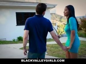 BlackValleyGirls - Hot Ebony Teen Sneaks Around To Fuck