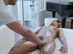 Adriana Chechik's oiled up body is all a man wants to plow
