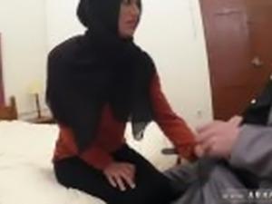 Muslim man and arab girl facial The