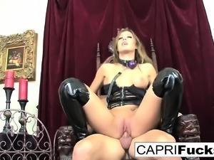 Capri takes on Johnny's big cock
