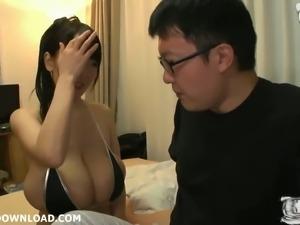 This busty Asian slut looks orgasmically hot in her sexy bikini