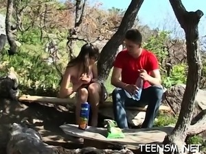 Pretty teen adores cock riding and groans from lust