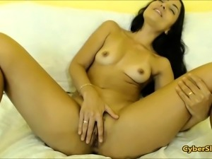 Latin chick slut Allison Toy masturbation