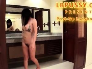 Post-Op Thai Tranny Kie Toying