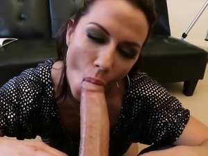 Brunette milf ass worship and cumshot