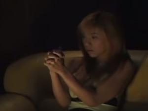 Attractive busty Japanese spiritual guru Juri Morikawa tries to see ghosts