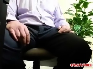 asian intern sucks off boss