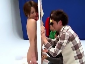 Delightful Japanese girls engage in hot group sex action