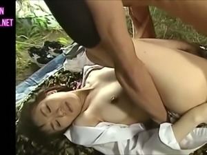 This horny Japanese coed can take a dick in her fuckhole at any time
