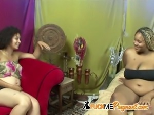 Ebony chick gets pleased by friend