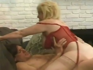 This granny has hell of a butt on her and she knows how to ride a dick