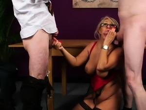UK mature cocksucking guys in mmf trio
