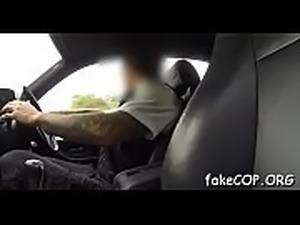 Cumshots decorate the fake cop