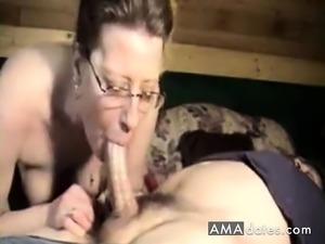 Long cock deep inside her throat