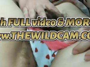 Hairy teen rubbing pussy (HOT) - THEWILDCAM. COM