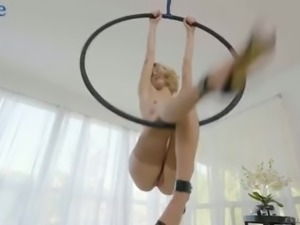Awesome Arya Fae gets analfucked right on the suspended hoop