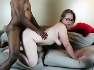 Busty blonde milf get pounded doggystyle by a black bull