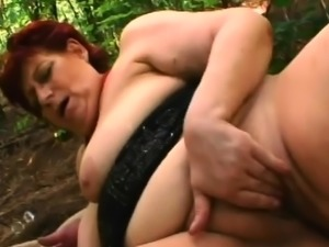 Epic redhead granny gets her slit pleased