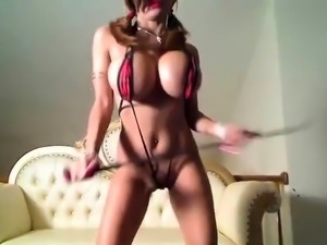 Busty Girl Dancing and Stripping