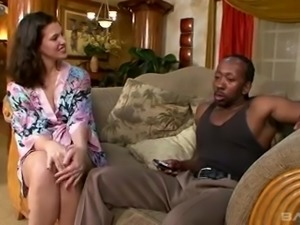 Damn unforgettable and sensual interracial FFM threesome with April Touch
