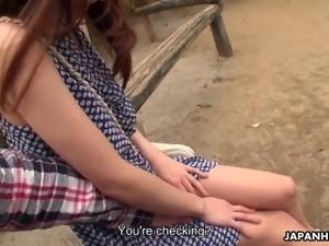 Lewd Japanese pickup artist finds a lovely girl for random blowjob session