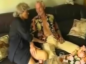 young couple with old couple swinger