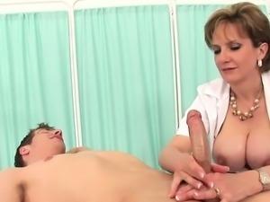 Unfaithful british milf gill ellis displays her gigantic tit