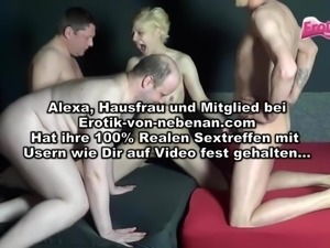 German homemade Gangbang Blond Mom fucking