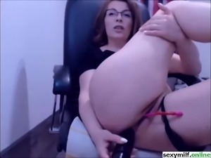 hot european milf anal dildo solo