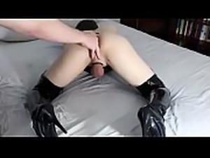 fingered cd slut reaches orgasm