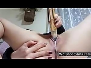 Amateur girl having fun with dildo - WetBabeCams.com