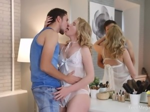 TeenMegaWorld -Creampie-Angels- Blonde angel under sex devil