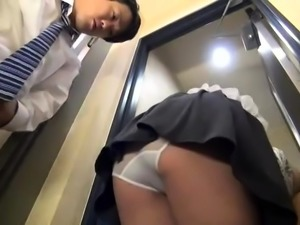 Slender Asian babe with sexy legs enjoys an intense drilling