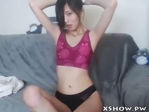 cute korean babe webcam show masturbating