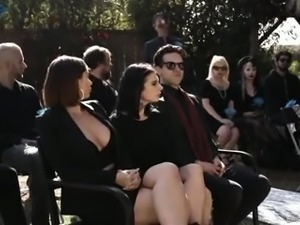Lewd Canadian bitch Marley Brinx gets fucked by aroused priest