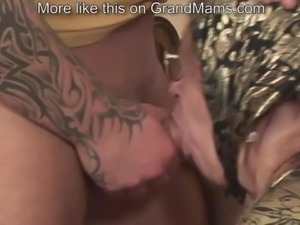 VERY old granny is lucky to be fucked by a hardcore guy